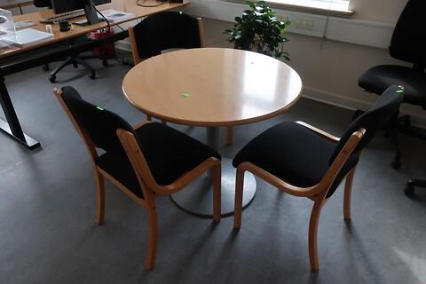 Bord med 3 stk. stole