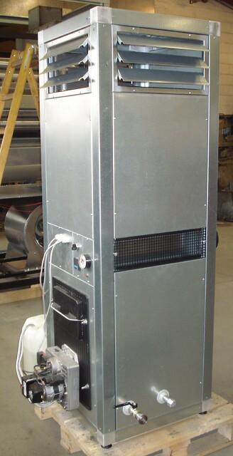 Varmluftaggregat med mulighed for varmt brugsvand m.m