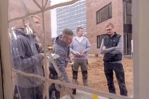 Rejsegilde på svanemærket byggeri i Kolding. Tvedvej. \nJFP Murer & Tømrer \nFotograf: BlumePress