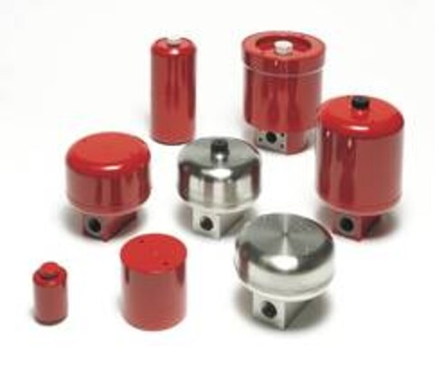 Belgakkumulatorer i metall fra Hydac