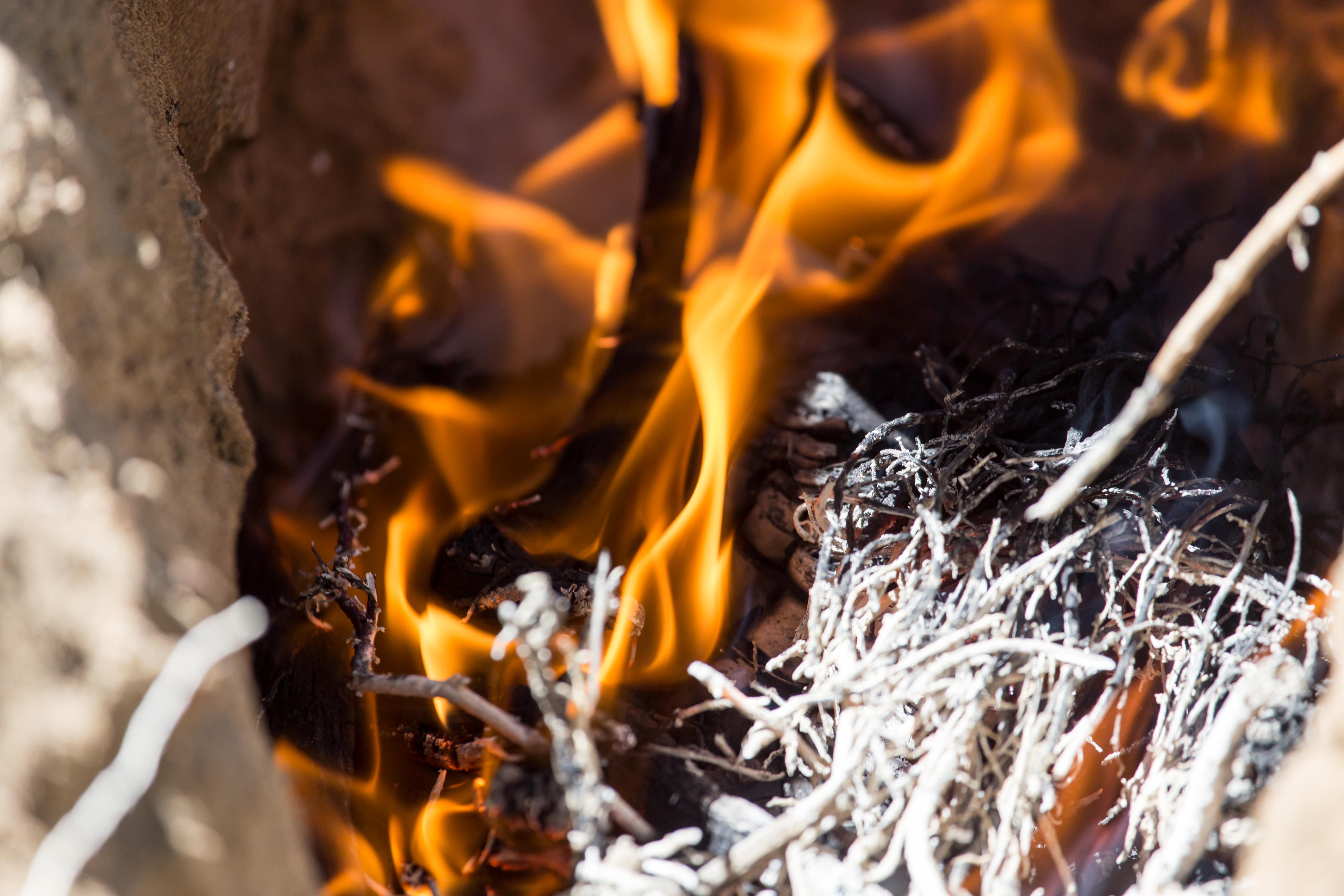 Skogsbrand i orminge