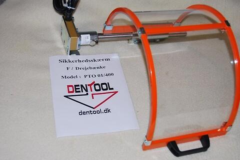Sikkerhedsskærm til drejebænk max. 600 mm dia.