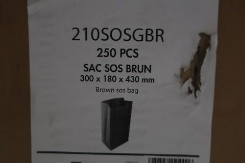 1750 stk. brun sos pose firstpack 210SOSGBR