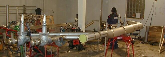 ORAB utför rörmontage vid kraftvärmeverk