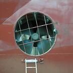 Thruster tunnel erosion damage repair