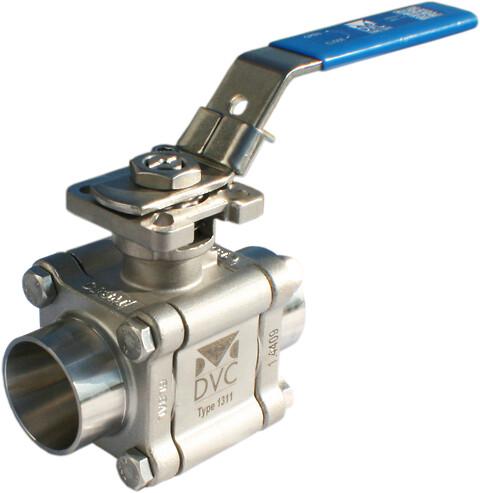 Teflon er unik – også til ventiler! - Type 1311 - 3-delt kuglehane