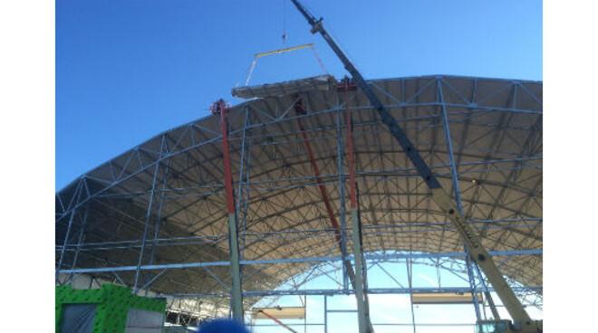 Bygging av hangarer