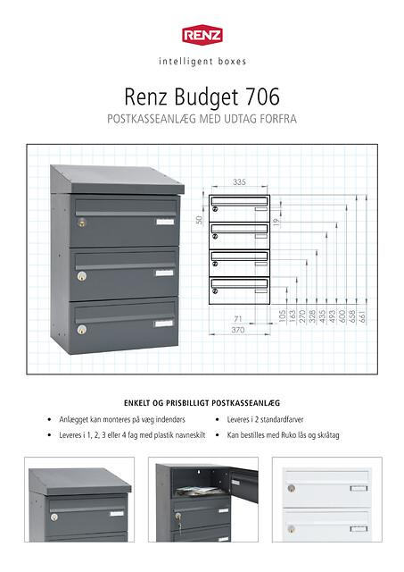RENZ Budget 706 Postkasseanlæg