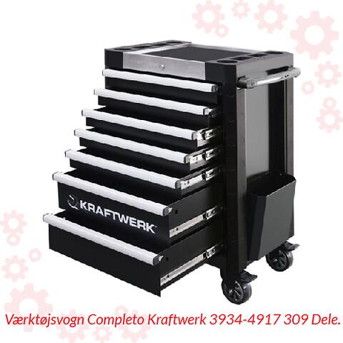 Værktøjsvogn Completo Kraftwerk 3934-4917 309 Dele.