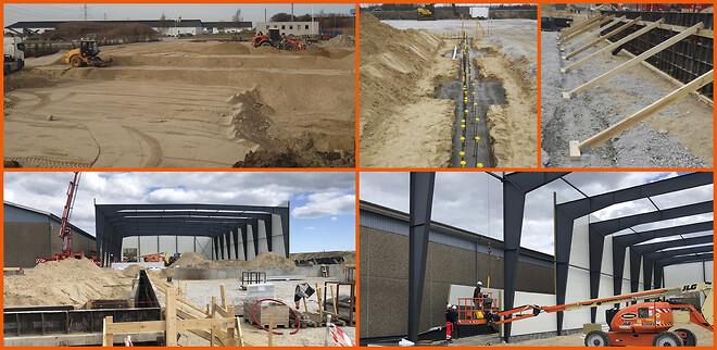2 nye lagerhaller på vej i Ølstykke. Vi opfører alle typer erhvervsbyggeri.