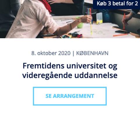 Temadag om fremtidens universitet og videregående uddannelse 2020 - Fremtidens universitet og videregående uddannelse - Nohrcon