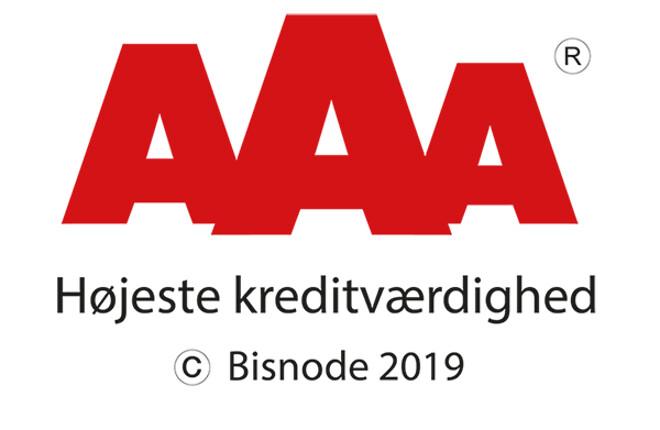 AAA-rating, Bisnode, Filterteknik, høj kreditværdighed, pålidelig