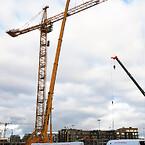 Metroen i København er ved at blive forlænget til Sydhavnen. Ajos skal levere i alt ni kraner til projektet.