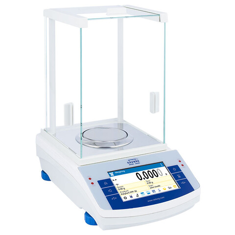 Præcis laboratorievægt til pulvervejning - Analysevægt med læsbarhed på 4 decimaler