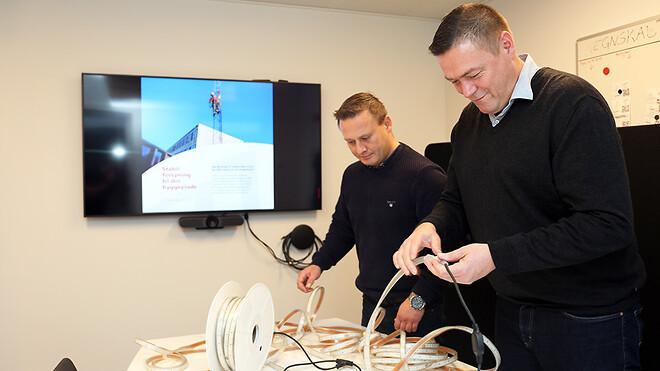 Bæredygtighed er i fokus hos Ajos, som derfor har valgt en løsning, hvor LED-båndene kan genanvendes flere gange.