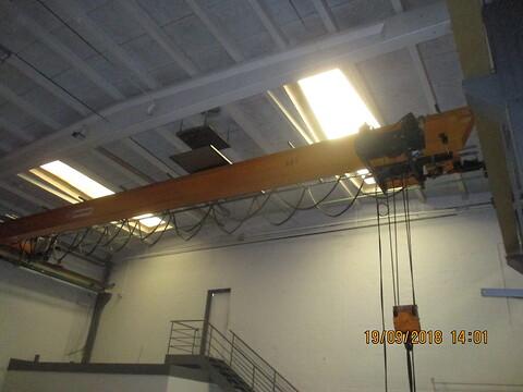 Brugt traverskran 8 ton Kone x 13,5 mtr. spænd sælges fra Stålspecialisten