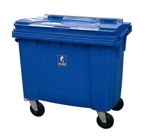 Affaldscontainer 4-hjulede 660 l - blå