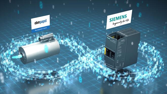 ebm-papst och Siemens i samarbete för automationslösning
