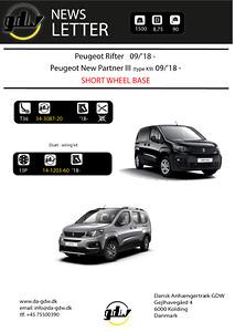 Peugeot Rifter & New Partner aftageligt anhængertræk fra Dansk Anhængertræk GDW