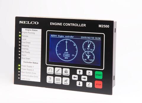 SELCO Engine Controller M2500 for marine applications - Motorstyringen M2500 er designet til styring, overvågning og beskyttelse af motorer i marine applikationer, f.eks. Hjælpegeneratorer, nødgeneratorer, havnegeneratorer eller motorer til fremdrift.