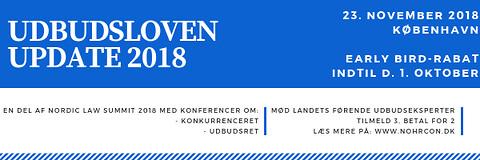 Udbudsloven for specialister 2018