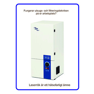 Utsug- och filtrering av laserrök