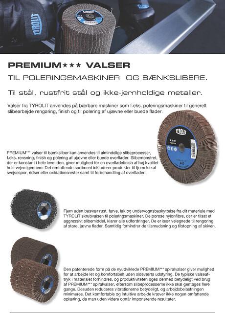 PREMIUM VALSER til poleringsmaskiner, til slibning af stål, rustfrit stål og ikke-jernholdigt metal.