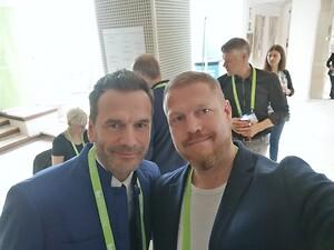 På billedet ses Allan Rasmussen med den danske iværksætter Jesper Buch, som er grundlægger af Just-Eat, Miinto og Gomentor og en af årets mentorer på Seedster Boot Camp.