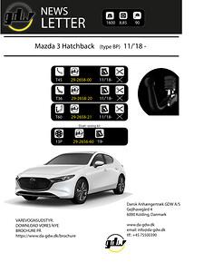 Mazda 3 Hatchback fast og aftageligt anhængertræk fra Dansk Anhængertræk GDW