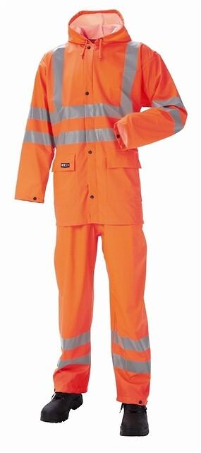 Regnsæt, hi-vis, antistatisk & antiflame, 12108 - orange