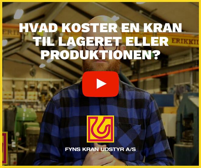 Hvad koster en kran til lageret eller produktionen - Fyns Kran Udstyr