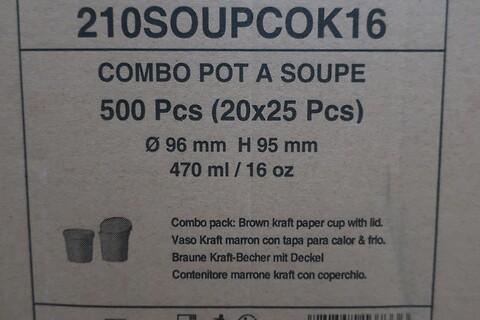 1000 stk. suppekop med låg firstpack 210SOUPCOK16