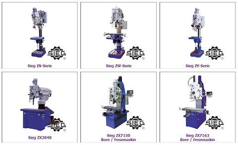 Søylebormaskiner fra SIEG - P. Meidell AS