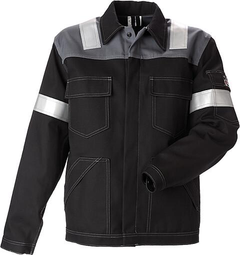 Antiflame arbejdsjakke, sort/koksgrå - 12002