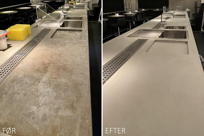 Renovering af bordplade for Gedulgt med Contec Coating