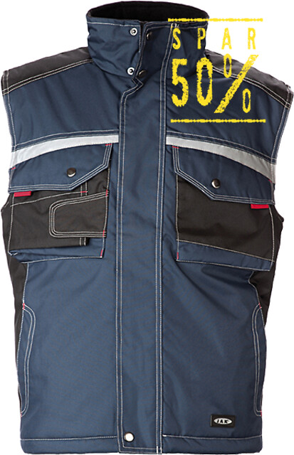 Outlet - vest, 9233 - petrol/sort
