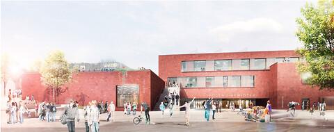 Studietur til udvidede og nyopførte skoler - Skolen i Bymidten, Helsingør - billede: Kjær & Richter arkitekter - Studietur til udvidede og nyopførte skoler