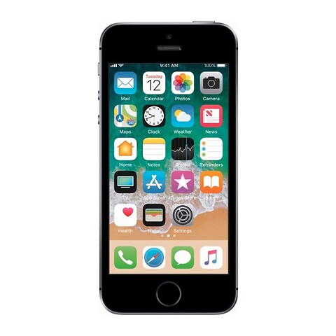 Apple iPhone SE 128GB (Space Gray) - Grade B - mobiltelefon