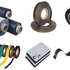 Magnetband, självhäftande magnetband, magnettejp, magnetfolie, magnetfickor, magnetpapper