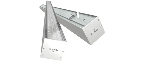 Kontinuerligt LED-armatur på specialmål