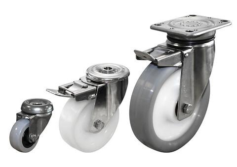 Rustfrie hjul til fødevareindustrien
