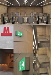 RIMO Metro flugtvejsarmatur til Cityringens stationer