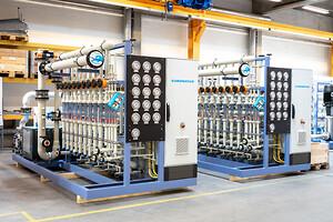 Vandbehandlingsanlæg fra Silhorko med GF produkter opbygget i ramme-konstruktion