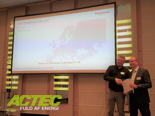 ACTEC Europamester i at sælge Panasonic Batterier