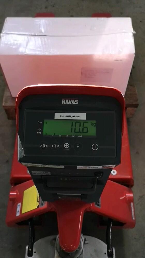 RAVAS palleløfter med vægt# vej gods# dokumenterer vejedata# HSØ ApS#