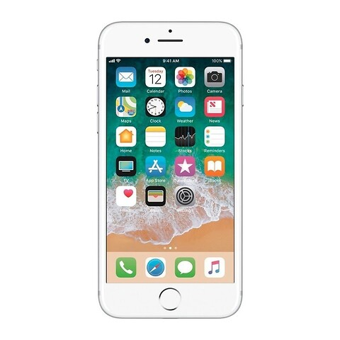 Apple iphone 7 32GB (sølv) - grade a - mobiltelefon