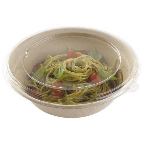 Bagasse, skål, brun, rund, komposterbar, Sukkerrør, 1000 ml, Ø20,80 cm (min. 300 stk.)