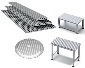 Aluminiumprofiler för konstruktion inom industri- och maskinteknik