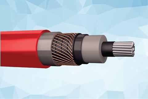 PEX-AL-LRT 72 kV elforsyningskabel - Prysmian PEX-AL-LRT 12 kV 1-leder