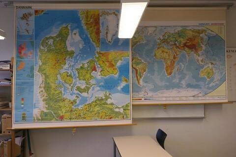 Danmarks og verdenskort